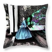 Spooky Historic Butterfly Dahlonega  Throw Pillow