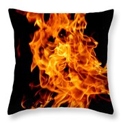 Spooky Hot Spirit Fire Michigan Throw Pillow