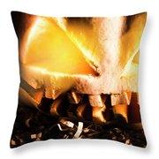 Spooky Jack-o-lantern In Darkness Throw Pillow