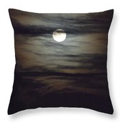 Spooky Moon Throw Pillow