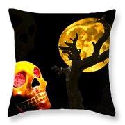 Spooky Night Throw Pillow