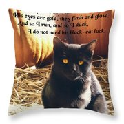 Spooky Quote Throw Pillow