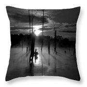 Spooky Sunrise Throw Pillow