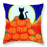 Spooky The Pumpkin King Throw Pillow
