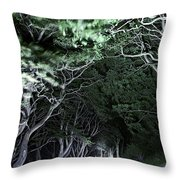 Spooky Trees Throw Pillow