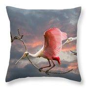 Spoonbill Fantasy #2 Throw Pillow