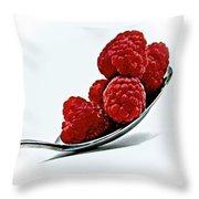 Spoonful Of Raspberries Throw Pillow