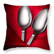 Spooning In Two Course Throw Pillow