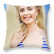 Sport And Exercise Throw Pillow