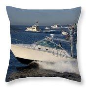 Sportfishing Boats - Cabo San Lucas Throw Pillow
