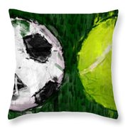 Sports Balls Abstract Throw Pillow