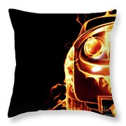Sports Car In Flames Throw Pillow by Oleksiy Maksymenko