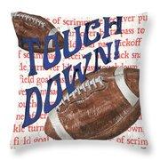 Sports Fan Football Throw Pillow