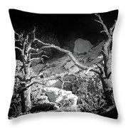 Spotlight On The Rim Throw Pillow