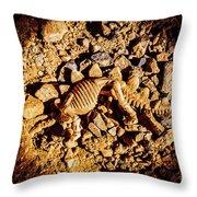 Spotlight On A Extinct Stegosaurus Throw Pillow