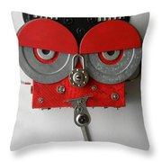Spotted Dick Throw Pillow by Jen Hardwick