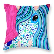 Spotted Horse Throw Pillow
