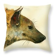 Spotted Hyena Animal Art Throw Pillow