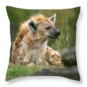 Spotted Hyenna Throw Pillow