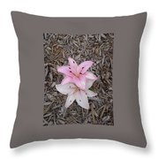 Spotted Pink Throw Pillow