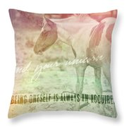 Spotted Pony Quote Throw Pillow