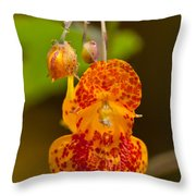 Spotted-touch-me-not And Buds Throw Pillow