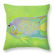 Spotted Tropical Fish Throw Pillow
