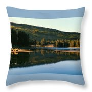 Sprague Lake At Dusk Rocky Mountain National Park Throw Pillow