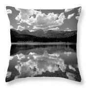 310204-bw-sprague Lake Reflect Bw  Throw Pillow