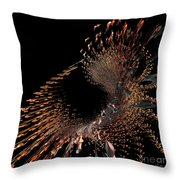 Spray Of Gold Throw Pillow