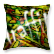 Spray Painted Graffiti Throw Pillow