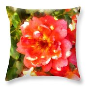 Spread Petals Of A Red Rose Throw Pillow