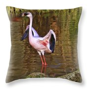Spread Pink Wings Throw Pillow