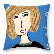 Spread Your Happy Around Throw Pillow