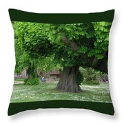 Spreading Chestnut Tree Throw Pillow
