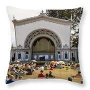 Spreckels Organ Pavilion Concert - San Diego Throw Pillow