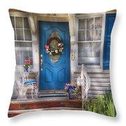 Spring - Door -  A Bit Of Blue  Throw Pillow