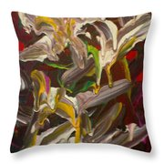 Spring Abstract  -026 Throw Pillow
