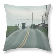 Spring Afternoon Buggy Ride Throw Pillow