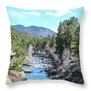 Spring Along The Arkansas Throw Pillow