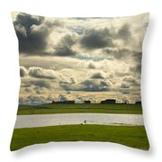 Spring Along The Shubenacadie River Throw Pillow