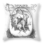 Spring Arrives Throw Pillow