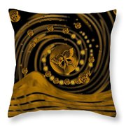 Spring Arrives In Golden Global Style Throw Pillow
