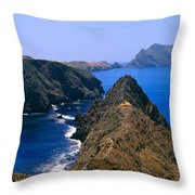 Spring At Anacapa Island, Channel Throw Pillow