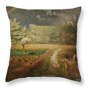 Spring At Barbizon Throw Pillow by Jean Francois Millet