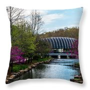 Spring At Crystal Bridges Throw Pillow