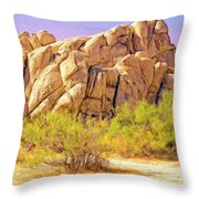 Spring At Joshua Tree Throw Pillow