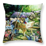 Spring At Last Throw Pillow by Hanne Lore Koehler