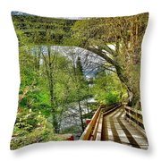 Spring At The Falls Throw Pillow