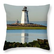 Spring At The Lighthouse Throw Pillow